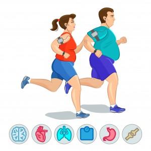 joggen mann frau